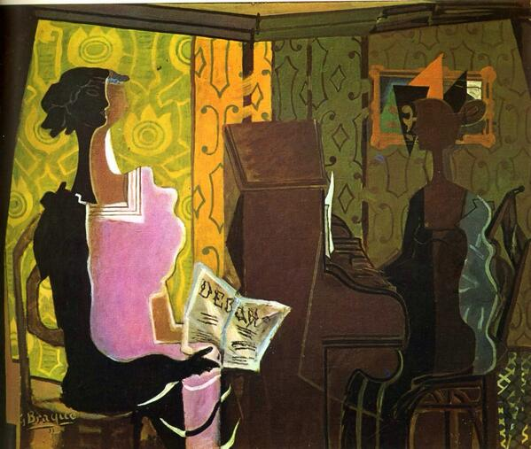 """""""@emilnolde1: @Mr_Mustard @aureli651 'The Duet' - Georges Braque 1937  http://t.co/gaGsHwmyBa  http://t.co/MmzPge8SID """""""