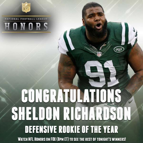 Sheldon Richardson Named NFL Defensive