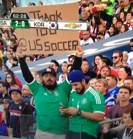 RT @BeardEric: These two Mexico fans came to #USAvKOR just to thank San Zusi http://t.co/qa375vWm0I