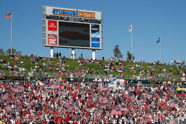 Awesome crowd at the StubHub Center today! #USAvKOR http://t.co/eSilbLckuS