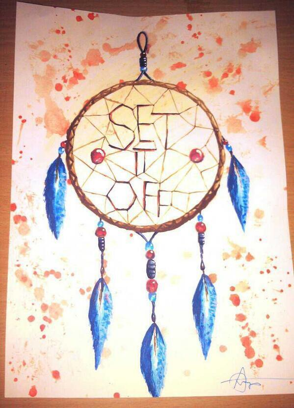Set It Off On Twitter A Hand Drawn Dreamcatcher By SilencedMe Inspiration Set It Off Dream Catcher