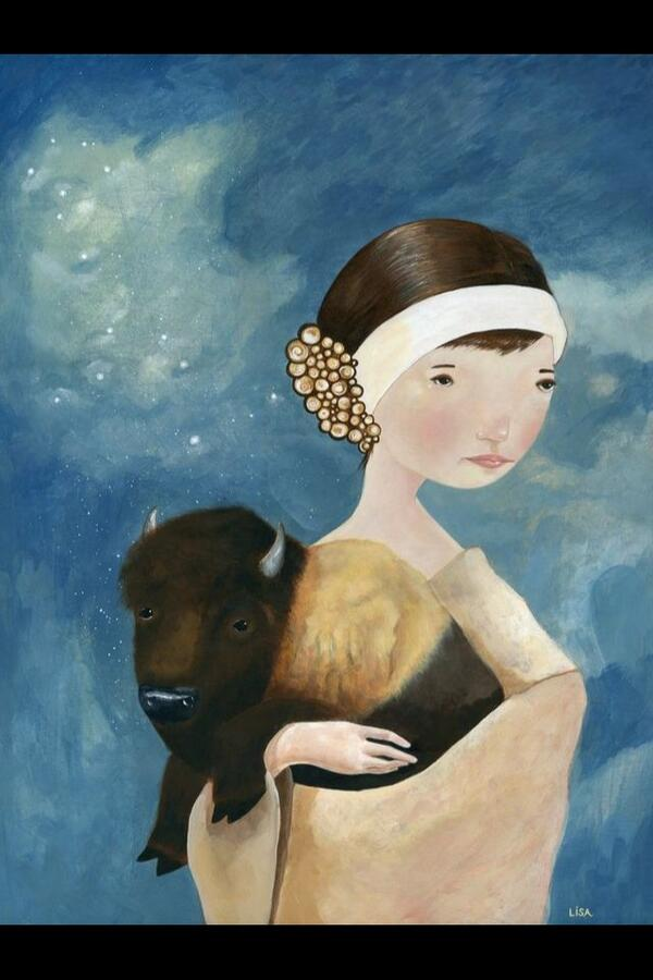 Here is my latest piece: Buffalo + Cetus, 18 x 24, acrylic/mixed media on wood panel #art @JamesDayArt http://t.co/Uk4i8CmvBu