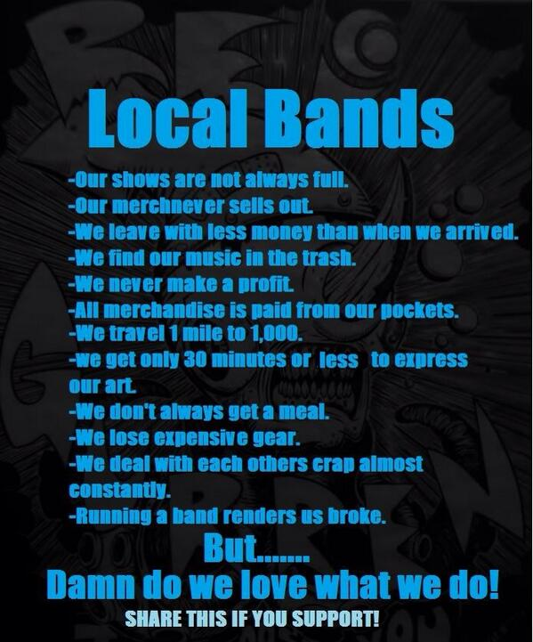 This is the truth! Support your local scene! http://t.co/pucXWdu8QK
