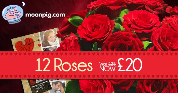 Moonpig on Twitter A Dozen Red Roses Only 20 With A Free Card – Moonpig Valentines Cards