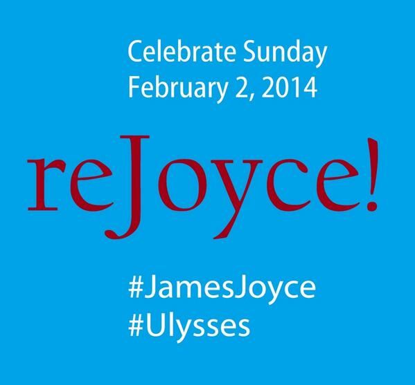 Retweet to celebrate #JamesJoyce and #Ulysses today! http://t.co/TB7AoUuDHq