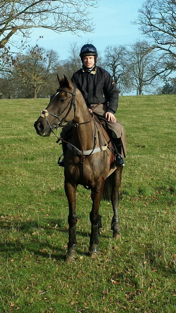 Great to be Reunited with Denman this morning. He was in great form and seemed happy to see me! http://t.co/hZUAGSXKhk
