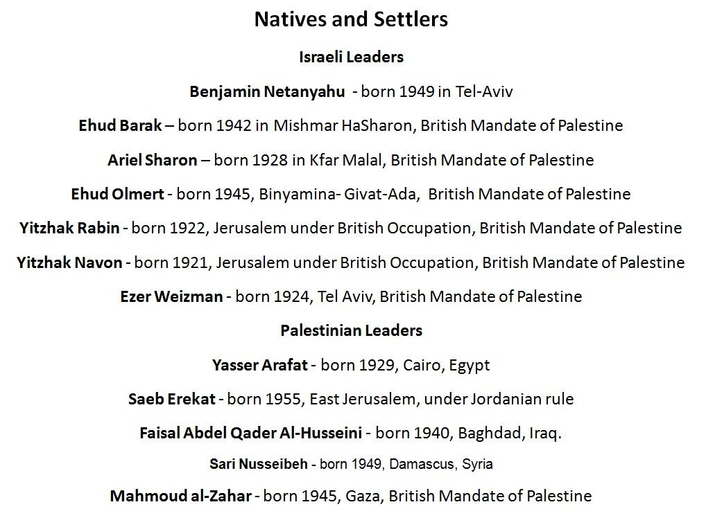 Twitter / LimorShiponi: Natives and Settlers #Israel ...