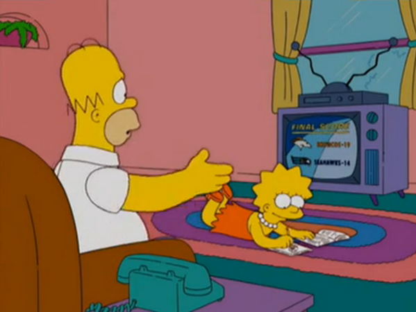 "No, ""The Simpsons"" did not ""predict"" a Broncos-Seahawks Super Bowl. I was just watching a regular season game - http://t.co/SgrWqB3d9n"