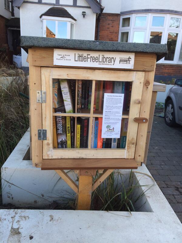 We just installed a free library outside our house! Let's see how it goes… http://t.co/bsTdU5zJ8v
