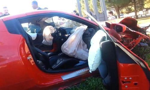 AC Milans MBaye Niang had his Ferrari totalled in France while on loan at Montpellier [Video & Pictures]
