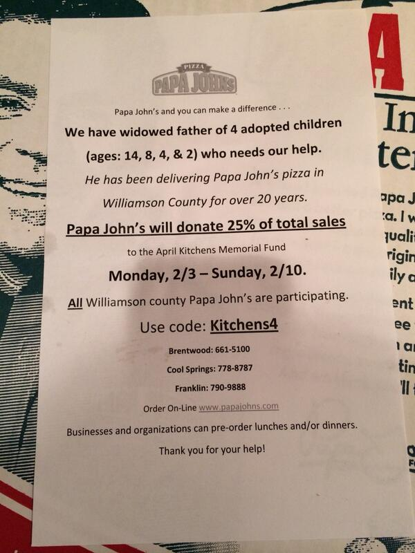 Please take a look & RT: MT @brentdougherty: If you order pizza in the Franklin area this week, consider this... http://t.co/92T6Ckj1du
