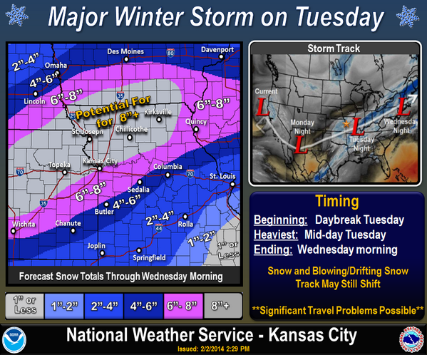 Here's a first glance at snow projections for Tuesday, please RT: http://t.co/Xg9erUePWZ