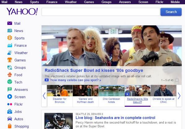 Love seeing our @RadioShack TV spot on the front page of @Yahoo - http://t.co/Ele1q4HhEb #InWithTheNew http://t.co/StZYTqd2nH