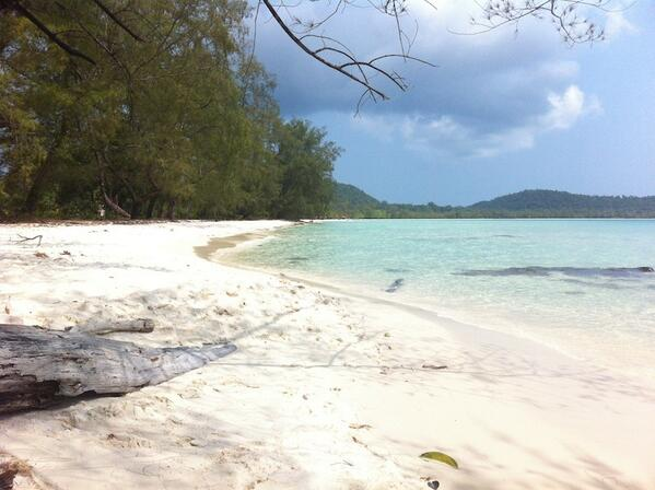 A view of Koh Rong taken last week by Hanuman's Nick Ray
