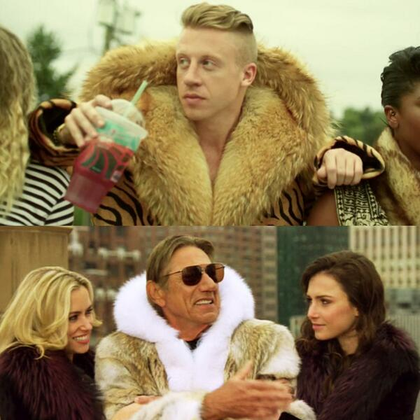 Joe Namath's coat vs Macklemore's thriftshop coat #poppingtags http://t.co/PDa8v1oDd6