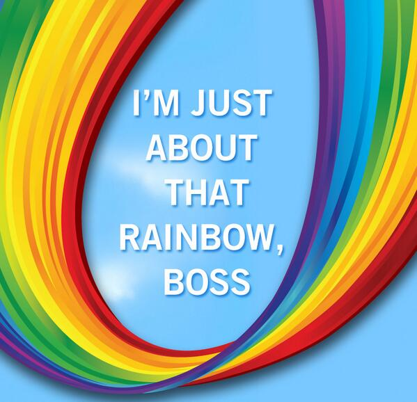 I'm just about that Rainbow, boss. #SB48 http://t.co/4oUz7tgJoI
