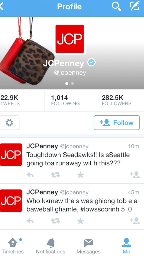 Go home @jcpenney, you're drunk. Stop. #RTMbowl http://t.co/tKPKR4ulQ1