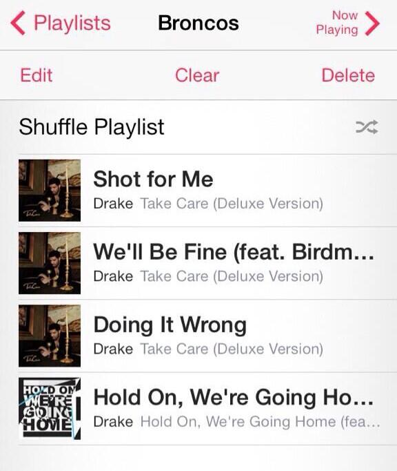 Broncos locker room playlist looking like http://t.co/7IymCFuxMB