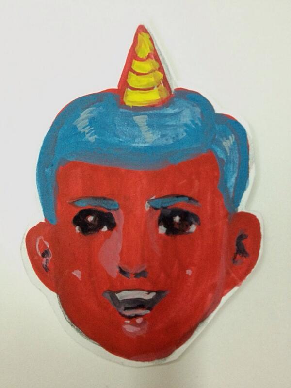 毎年恒例になってますが、鬼のお面にどうぞお使いください。 http://t.co/7qhdMsWeCl