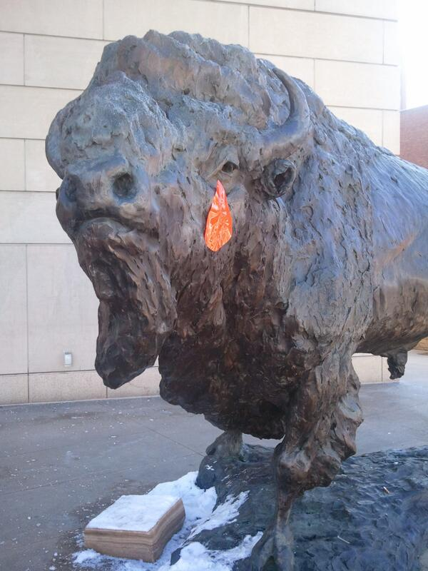 The History Colorado Center's bison is crying #unitedinorange tears today, but we still love you @DenverBroncos! http://t.co/NjXSamhlgn