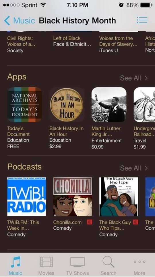 Twitter / Chonilladotcom: What! @iTunes celebrating Black ...