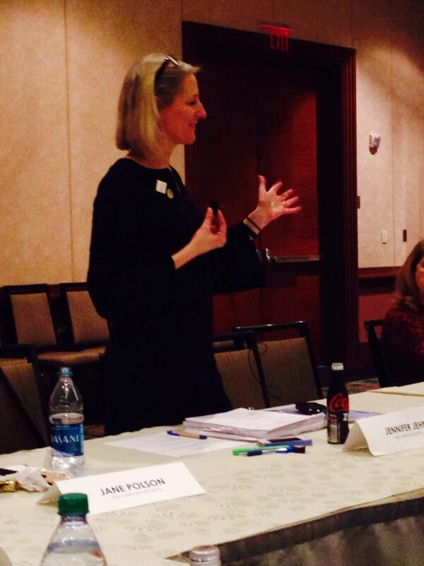 KAB Pres. Jennifer Jehn addressing State Leaders Council. Excited to move positively forward with #KAB2014 http://t.co/0qMMEjaLF3