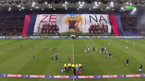 Wow! Genoa fans produce an incredible tifo display before Sampdoria derby [Pics & Video]