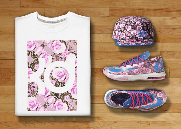 Kevin Durant's honors late Aunt Pearl with latest version of KD VI shoe: http://t.co/rRyeXXUB0z http://t.co/4ghM6rpDFM