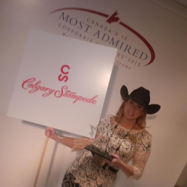 Congratulations to @calgarystampede one of Canada's Most Admired Corporate Cultures! #Canadas10 http://t.co/8rpRFGrvTE