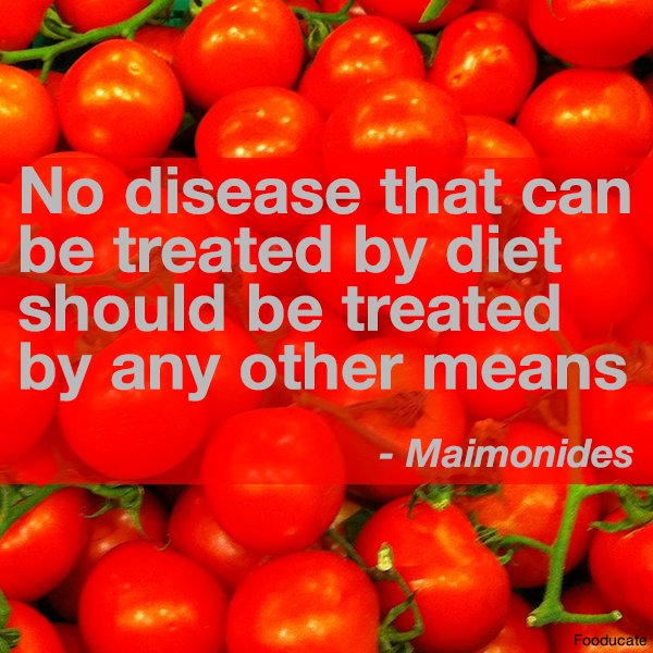 """No disease that can be treated by diet, should be treated by any other means"" http://t.co/W5Y4MrtjzZ"