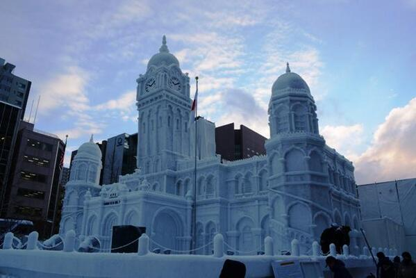 Pre-opening day at the Sapporo Snow Festival - some seriously impressive works of art on show http://t.co/mX5j7VmKqL