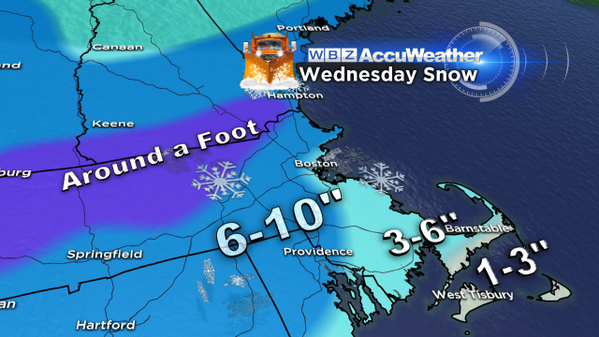 For your viewing pleasure (or displeasure)- Here it is, tomorrow's snow map!   #WBZ http://t.co/5wfVZ3Mtzp
