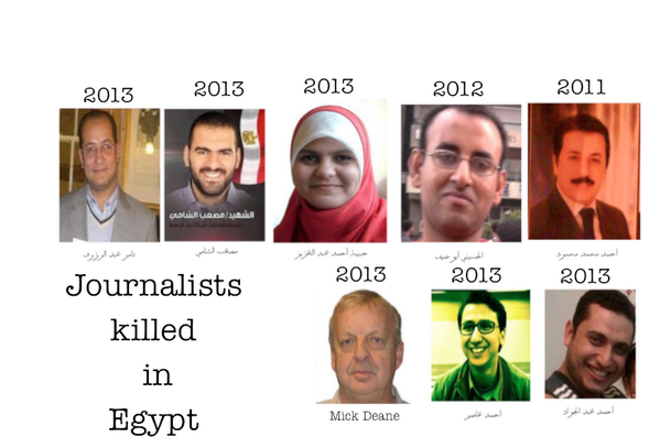 """""""@Hamamou: 8 Journalists killed in #Egypt between 2011 and 2013 http://t.co/bjmyKxBeYD"""""""
