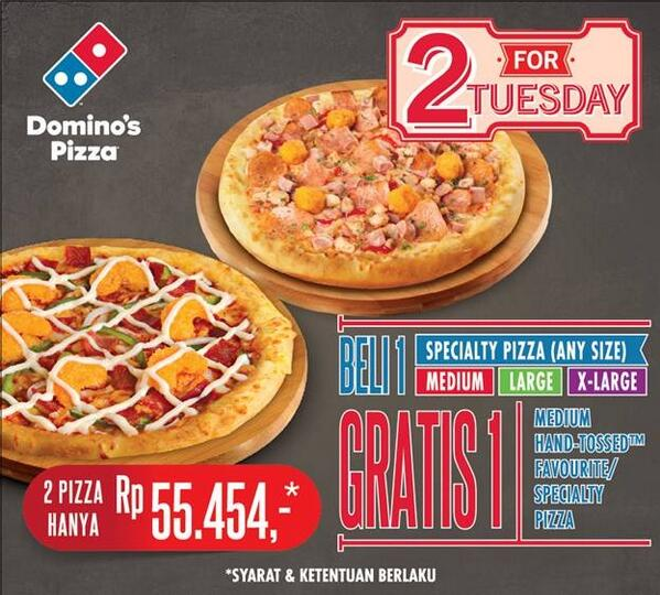 Domino S Pizza Id Pa Twitter Lesmikro Promo 2 For Tuesday Untuk Besok Masih Berlaku Trims