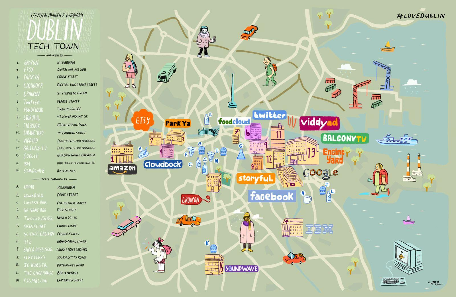mapa startups dublin