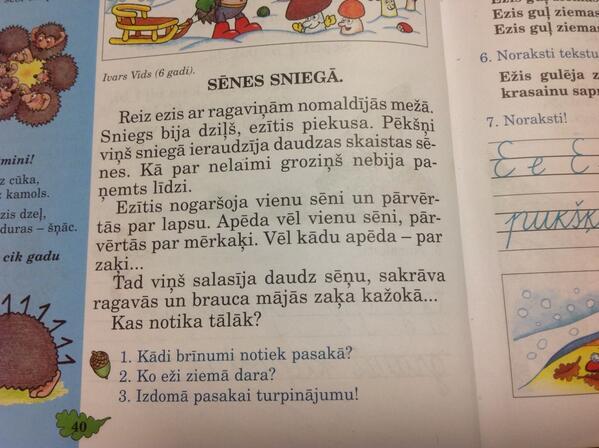 Vudstokas festivāla nelaiķi tikko pagrozījās: MT @ivarssvilans Nesmejieties, bet tas ir 1.kl.latviešu val.grāmatā! http://t.co/xkY8K0OzxW