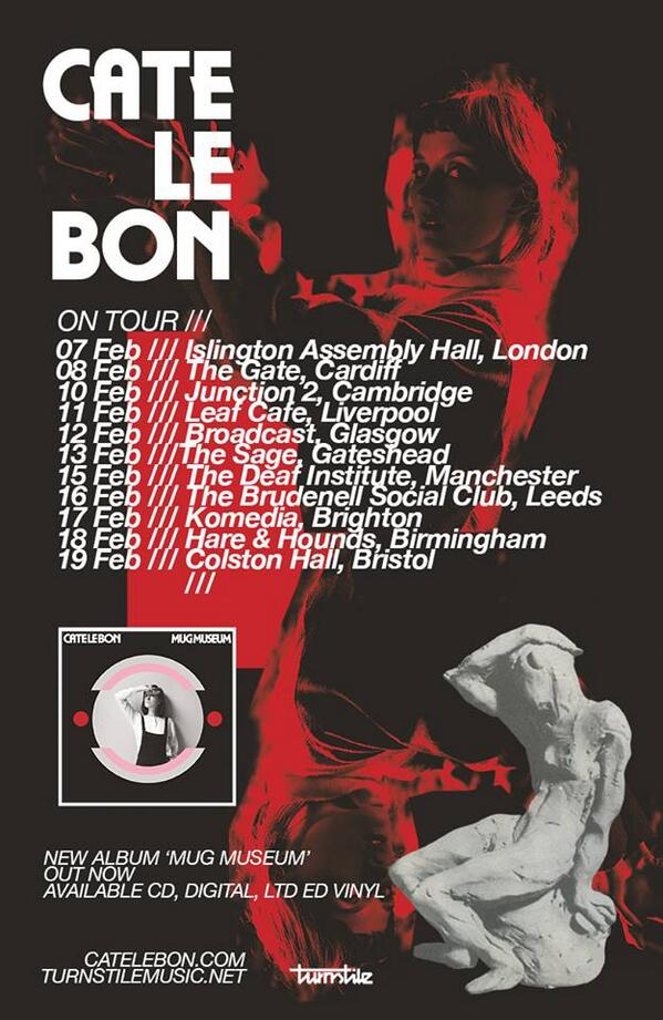 Cate Le Bon's (@catelebon) UK Tour begins Thursday. RT for the chance to win a pair of tix to the gig of your choice! http://t.co/C5dhFMiJyq