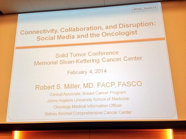 In the audience. Oncologist @sloan_kettering. @rsm2800 about to give GR #msk_hcsm14 http://t.co/PuPGn0TMZZ