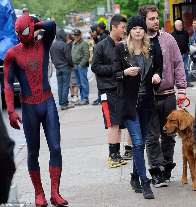 Spiderman looks a bit lost here http://t.co/M2ViOdvSBw