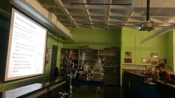Thanks! @birdnerd_seg: L.Gutowsky lecturing this morning at Dalhousie in BIOL4323 @afs_oc_su #biotelemetry#biologging http://t.co/SUdXwObtN2