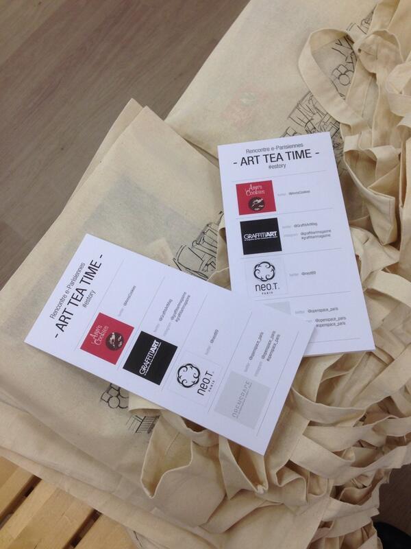 La soirée #eparisiennes Art Tea Time se prépare à la galerie @openspace_paris #estory http://t.co/xNhoiwhwrM