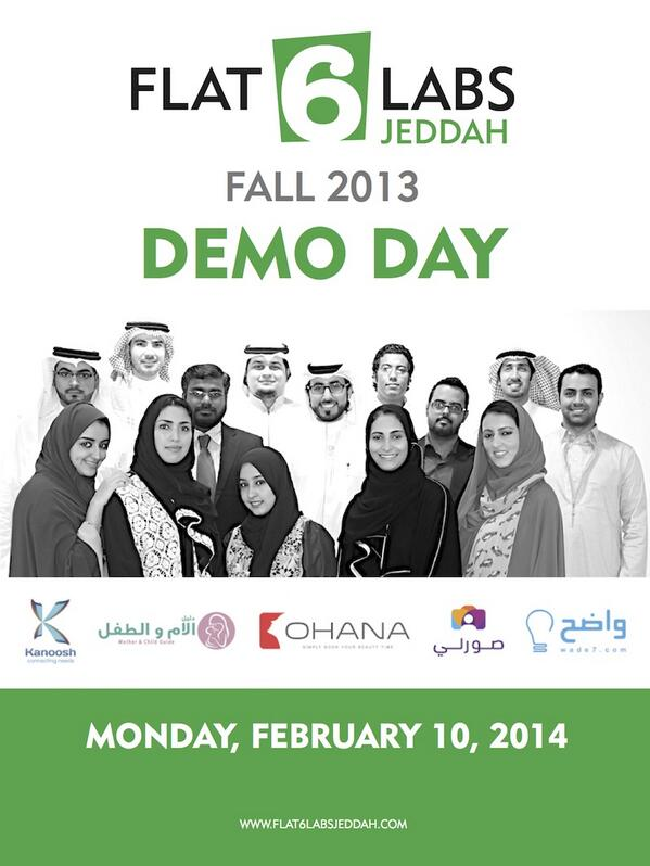 A dream coming true.. time to show some kickass Saudi Startups! 6 days till @Flat6LabsJeddah 1st Demo Day :) http://t.co/eKkQRTAnGk