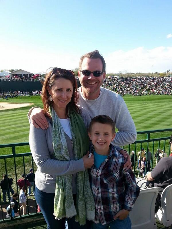 At the 18th SkyBox during this weeks @WMPhoenixOpen with my lovely wife and #lilboo #gratitude #greenestshow #golf http://t.co/9YC9ZpWQIN