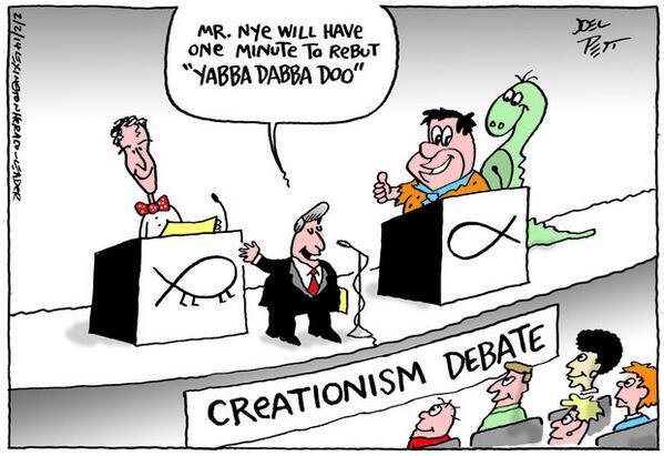 Bill Nye vs Ken Ham #CreationDebate http://t.co/kPftq7lxhL