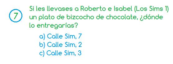 Pregunta sims 7