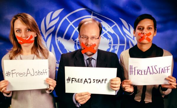 #aljazeera un bureau say #freeAJstaff http://t.co/OSo1k4bmk0