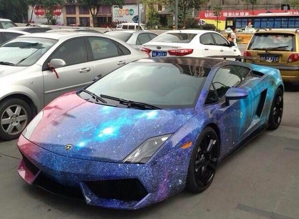 Smart car sticker designs - Billionaires On Twitter Quot Lamborghini Gallardo With A Galaxy Paint Job
