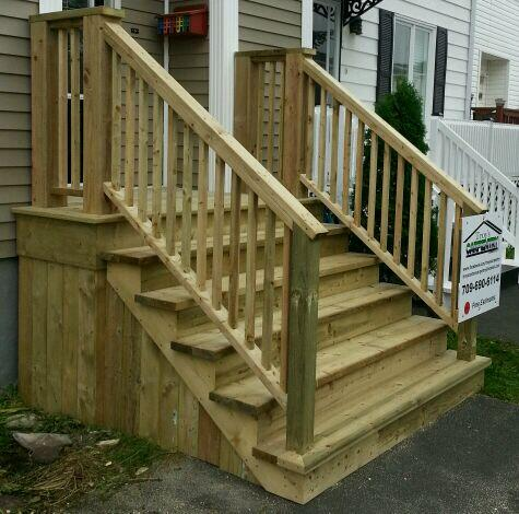 Cover Concrete Steps With Wood Lp82 Roccommunity