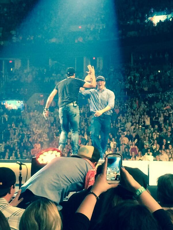 Me and my buddy @LukeBryanOnline in okc! What a blast! http://t.co/N2soKRSdHc