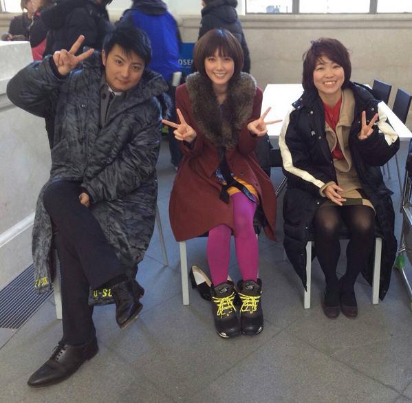 【イモトアヤコ主演!】 ドラマ「最高のおもてなし」  上地雄輔さんも、本田翼さんも、  会って5秒で自分のことを大好きにさせちゃう、本当に魅力的な方たち!  例にもれず、僕もお会いしてすぐ二人の大ファンに。 @imotodesse http://t.co/6D3E64LPXt